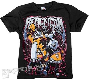 koszulka dziecięca BLACK ICON - BLACK METAL MASCOT (JICON041 BLACK)