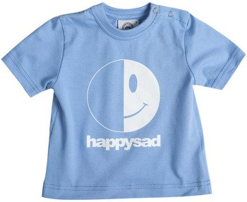 koszulka niemowlęca HAPPYSAD - LOGO (BLUE)