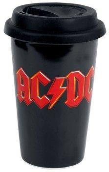 kubek AC/DC - LOGO, ceramiczny bez ucha