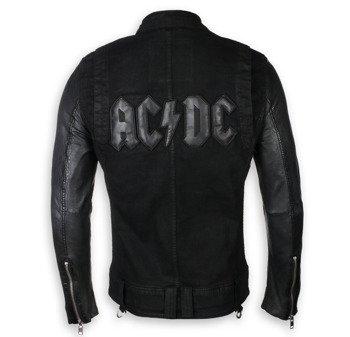 kurtka AC/DC - LOGO, drelich + skóra