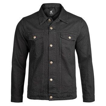kurtka DENIM JACKET black jeansowa