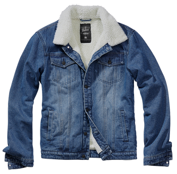 kurtka SHERPA DENIM JACKET blue