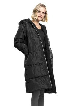 kurtka damska LADIES OVERSIZED HOODED PUFFER COAT