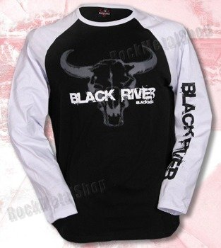 longsleeve BLACK RIVER - BLACK'N'ROLL white/black raglan