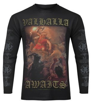 longsleeve VICTORY OR VALHALLA - THOR'S FIGHT