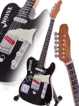 "miniaturka gitary THE CLASH - MICK JONES ""Ignore Alien Orders"" TELEC."