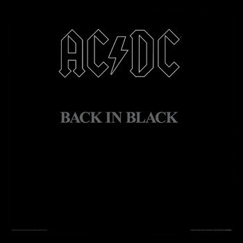 obraz w ramie AC/DC - BACK IN BLACK