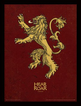 obraz w ramie GAME OF THRONES - LANNISTER