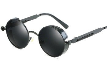 okulary LENONKI STEAMPUNK RETRO RAY BLACK