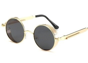 okulary LENONKI STEAMPUNK RETRO RAY GOLD BLACK