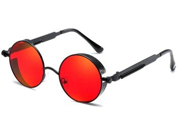 okulary LENONKI STEAMPUNK RETRO RAY RED
