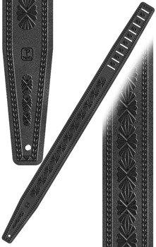 pas do gitary PERRI'S BLACK LEATHER SHELLS DESIGN 6,5 cm