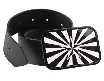 pasek z klamrą NAUTICAL STAR SHINE BLACK/WHITE