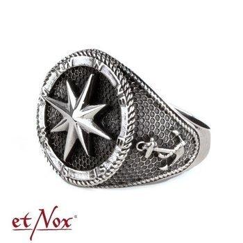 pierścień COMPASS, srebro 925