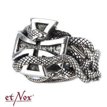 pierścień IRON CROSS, srebro 925