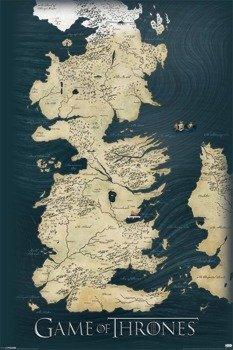plakat GAME OF THRONES - MAP