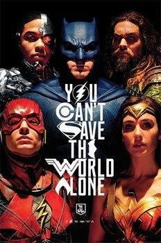 plakat JUSTICE LEAGUE - SAVE THE WORLD