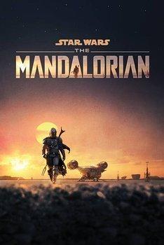 plakat STAR WARS: THE MANDALORIAN - DUSK