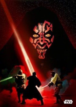 plakat z metalu STAR WARS - DARTH MAUL