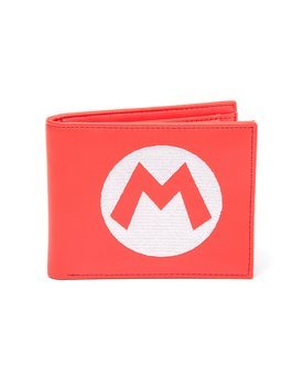 portfel NINTENDO - BIFOLD WALLET WITH EMBROIDERED SUPER MARIO LOGO