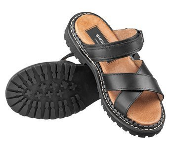 sandały damskie (glandały) STEADY'S czarne (STE/ROCK/3)