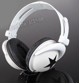 słuchawki HEADPHONE STAR WHITE/BLACK