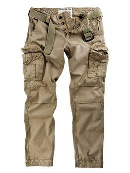 spodnie bojówki PREMIUM TROUSERS SLIMMY BEIGE