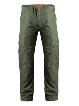 spodnie bojówki długie WEST COAST CHOPPERS - CAINE RIPSTOP CARGO PANT olive