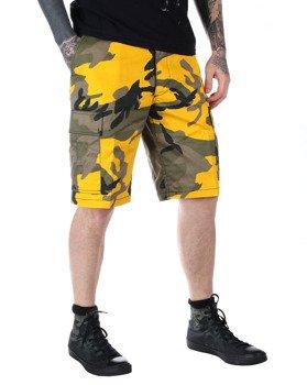 spodnie bojówki krótkie MMB US BDU SHORT YELLOW CAMO