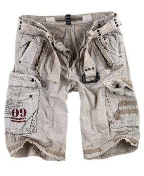 spodnie bojówki krótkie ROYAL SHORTS - ROYALWHITE