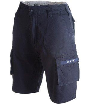 spodnie bojówki krótkie SURPLUS STARS BERMUDA dark blue