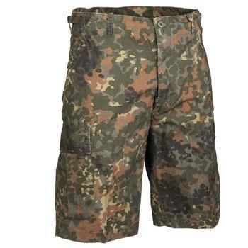 spodnie bojówki krótkie US BERMUDA RIP-STOP COTTON PREWASH FLECKTARN