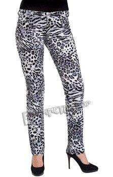 spodnie damskie CLOSE PANTS LEO black/white