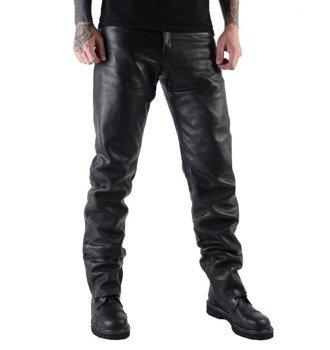 spodnie skórzane Black, proste