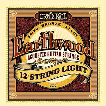 struny do gitary akustycznej 12str. ERNIE BALL Earthwood Light, 80/20 Bronze EB2010 /009-046/
