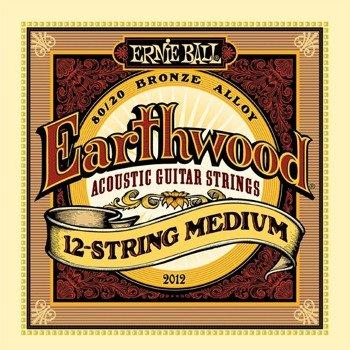 struny do gitary akustycznej 12str. ERNIE BALL Earthwood Medium, 80/20 Bronze EB2012 /011-052/