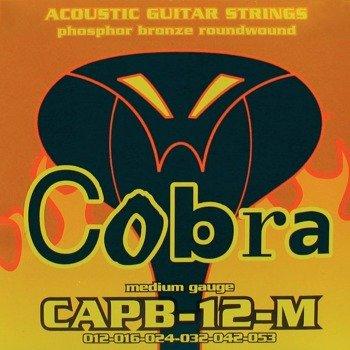 struny do gitary akustycznej COBRA CAPB-12-M PHOSPHOR BROZNE /012-053/