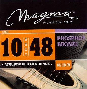 struny do gitary akustycznej MAGMA GA120PB Phosphor Bronze / Light /010-048/