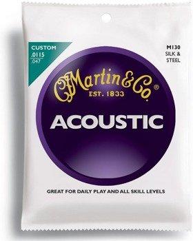 struny do gitary akustycznej MARTIN M130 FOLK - SILK & STEEL /0115-047/