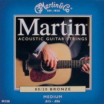 struny do gitary akustycznej MARTIN M150 - 80/20 BRONZE Medium /013-056/