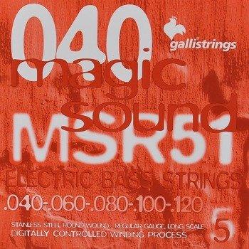 struny do gitary basowej 5str. GALLI STRINGS - MAGIC SOUND MSR51 HEXAGONAL /040-120/