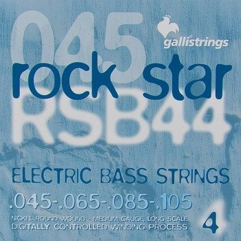 struny do gitary basowej GALLI STRINGS - ROCK STAR RSB44 NICKEL WOUND /045-105/