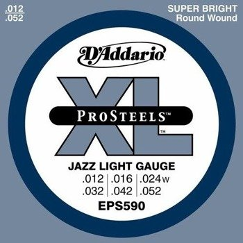 struny do gitary elektrycznej D'ADDARIO XL ProSteels EPS590 /012-052/