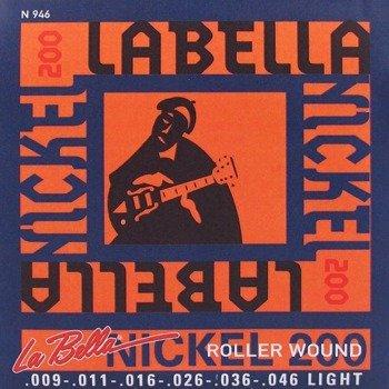 """struny do gitary elektrycznej LA BELLA N946 """"Nickel 200"""" Light /009-046/"""