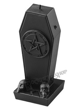 świeca COFFIN WITH PENTAGRAM BLACK MATT