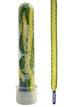 sznurowadła TUBELACES - FLAT WORLD BRAZIL (120 cm)