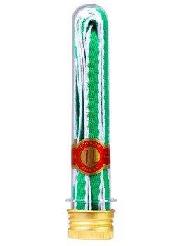 sznurowadła TUBELACES - GOLD ROPE HOOK UP GREEN/WHITE (130 cm)