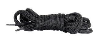 sznurowadła okrągłe CZARNE dł.90 cm / śr. 5mm buty 4 - dziurowe
