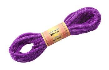 sznurowadła okrągłe FIOLETOWE dł.200 cm