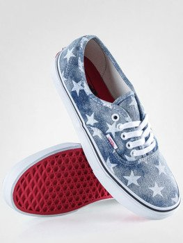 trampki VANS - AUTHENTIC WASHED STARS BLUE